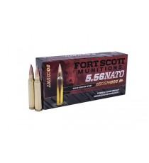 Fort Scott 5.56 NATO SCS TUI Ammo 62 Gr Brass Brush Hog 20 RD Box