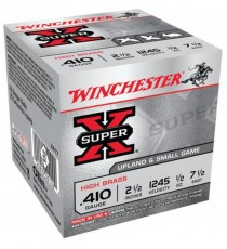 Winchester Super-X 410 Ga Ammo 2.5 No 7.5 1/2 oz Steel Game &Target