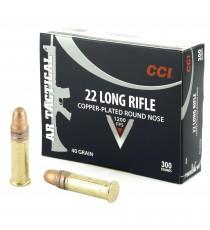 CCI AR Tactical 22 LR Ammo 40 Gr Copper RN 300 Rd Box