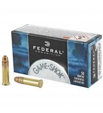 Federal GameShok 22 LR Ammo 40 Gr Copper RN 50 Rd Box