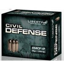 Liberty Civil Defense 45 ACP +P Ammo 78 Gr HP 1900 fps