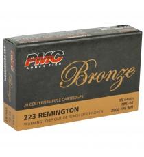 PMC, Bronze, 223REM, 55 Grain, Full Metal Jacket, 20 Round Box
